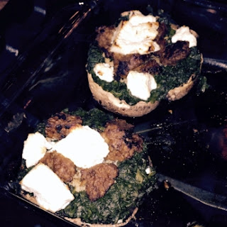 Stuffed Mushrooms (Feta, Spinach)