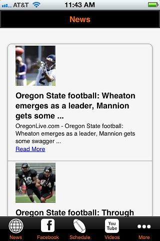 Oregon State Football- screenshot