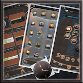 Leather Next Launcher Theme 3D