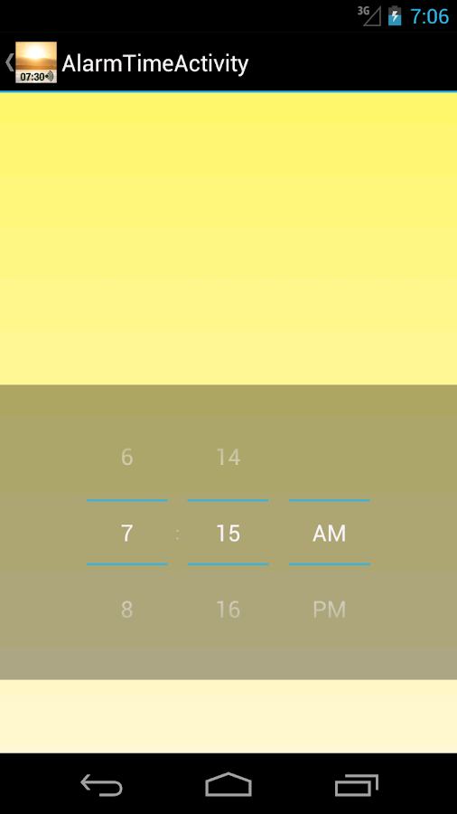 Light Alarm - screenshot