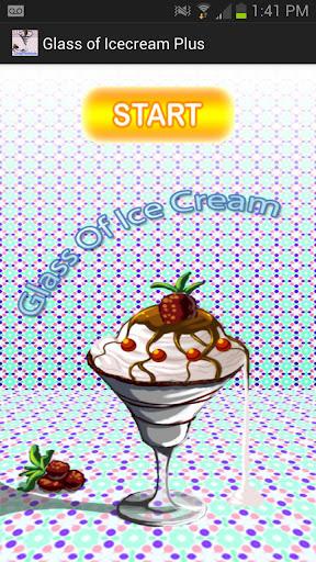 Glass of icecream Plus