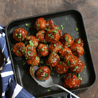 Spicy Glazed Meatballs