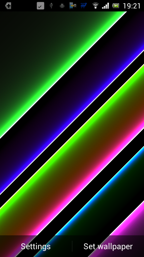 Galaxy Color Halo HD PRO LWP- screenshot