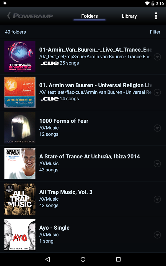 Poweramp Music Player (Trial)- screenshot