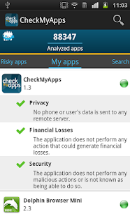 CheckMyApps Mobile Security- screenshot thumbnail