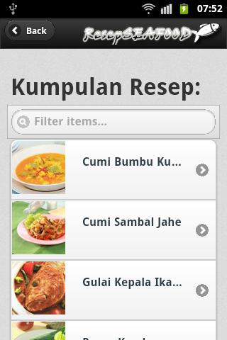 Resep Seafood Indonesia - screenshot
