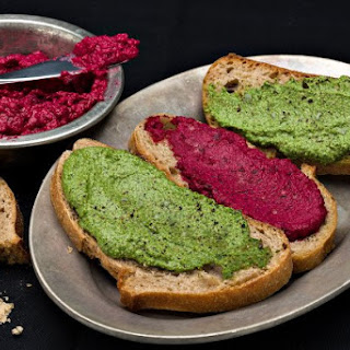 Beet And Spinach Tartine.