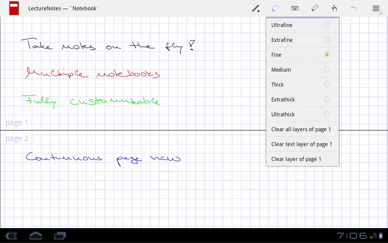 LectureNotes - screenshot