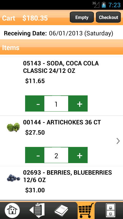 Get Fresh Produce Checkout - screenshot