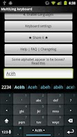 Screenshot of Acèh Keyboard Plugin