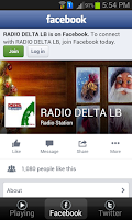 Screenshot of Radio Delta Lebanon