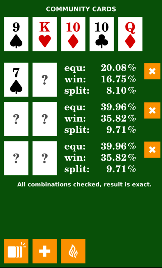 Poker Calculator- screenshot