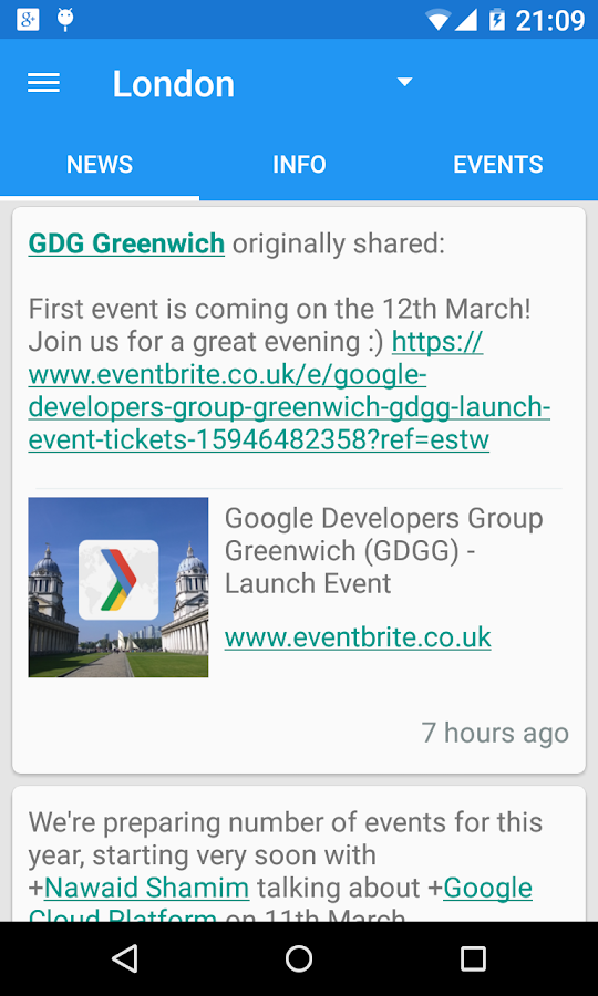 GDG - News & Events- screenshot
