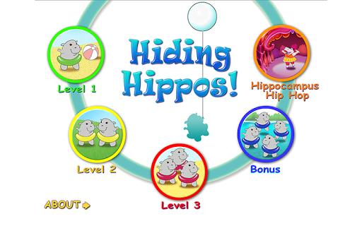 Hiding Hippos Kids Memory Game