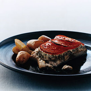 Broiled Bluefish with Tomato and Herbs