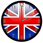 British Union Jack Flag Clock