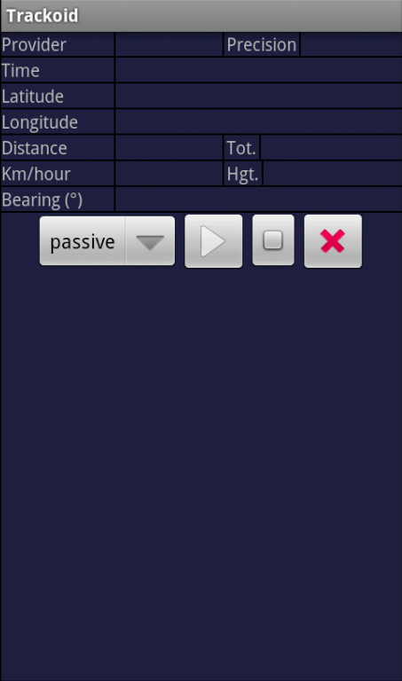 Trackoid- screenshot