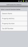 Screenshot of Gulf Tax Collector