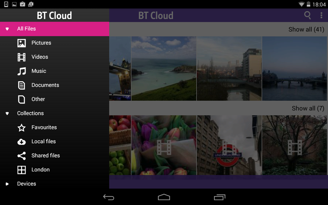 BT Cloud - screenshot