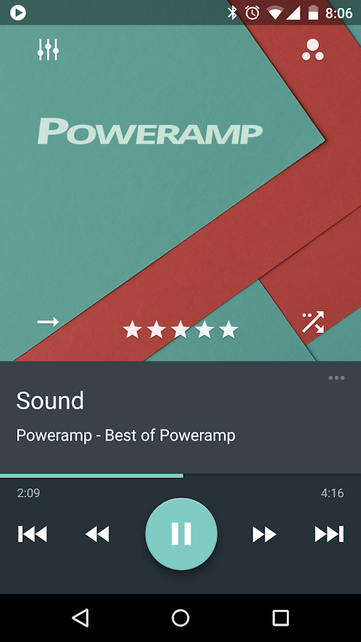Skin for Poweramp Material- スクリーンショット