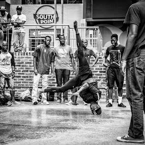 Head Spin by Daniel Craig Johnson - City,  Street & Park  Street Scenes ( street scene, africa, portrait, dancer, street photography, , Travel, People, Lifestyle, Culture )