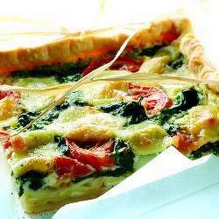 Spinach And Tomato Quiche.