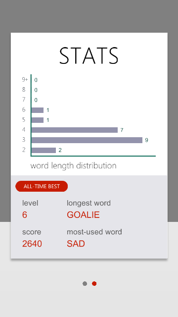 WeWord is a word puzzle!- screenshot