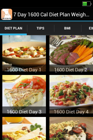 1600 Cal Diet Plan Weight Loss