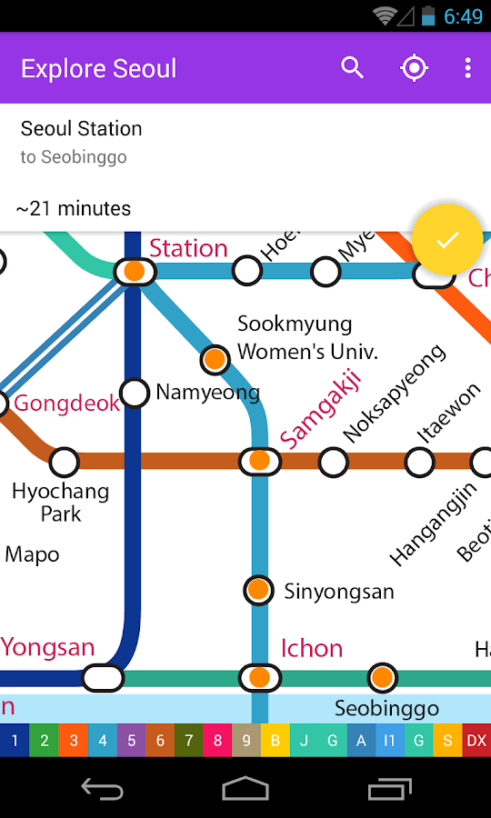 Explore Seoul Subway map- screenshot