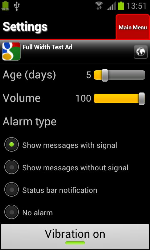 IM Alarm - screenshot
