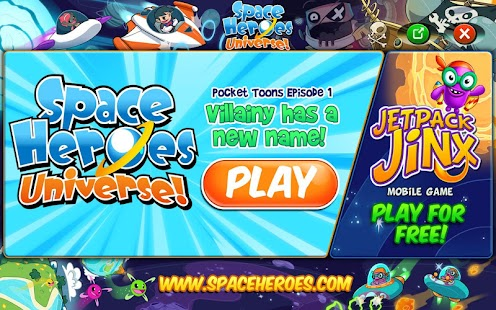 Space Heroes Pocket Toons- screenshot thumbnail
