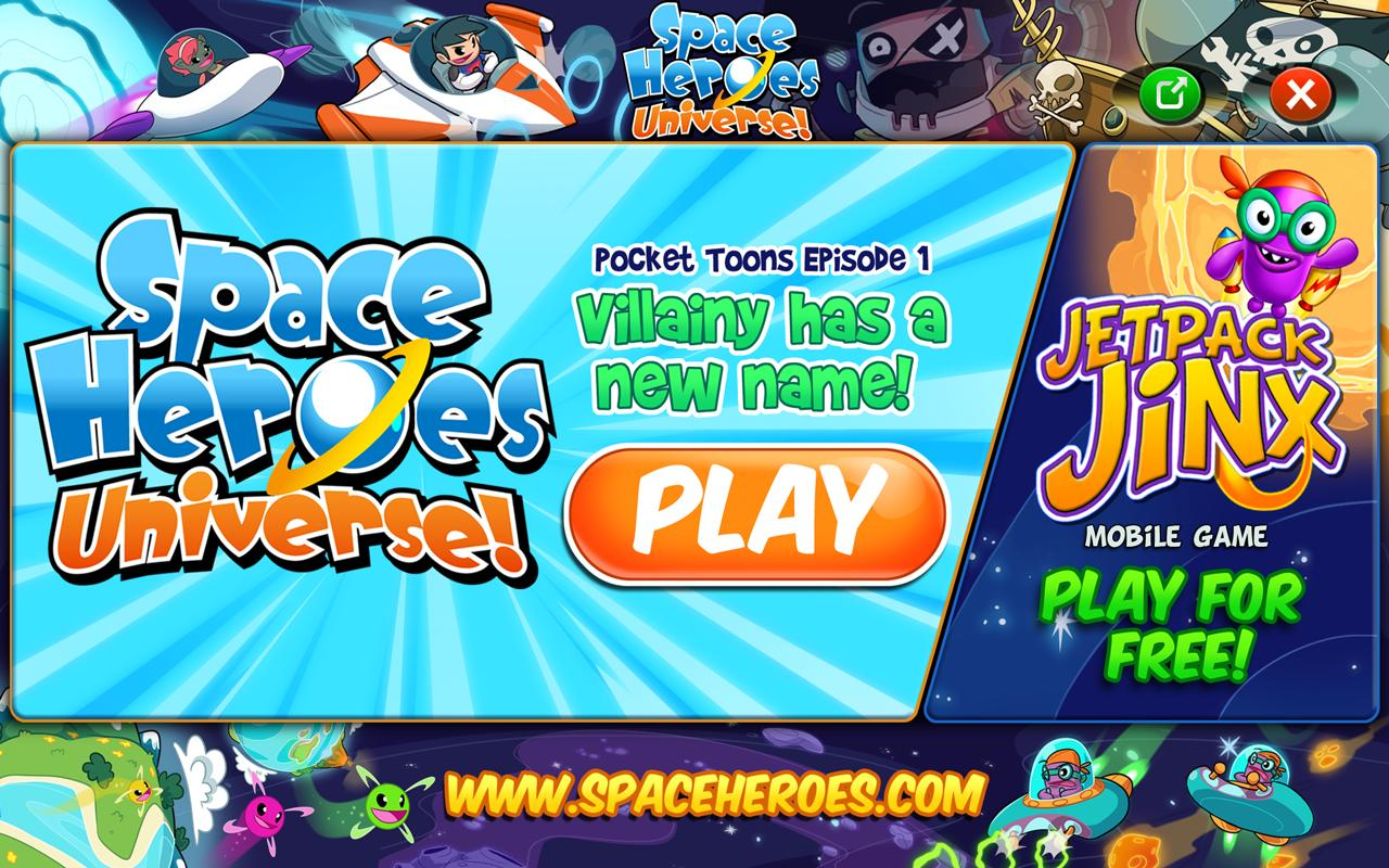 Space Heroes Pocket Toons- screenshot
