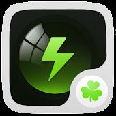 Black Theme GO Power Battery