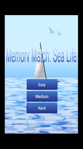 Memory Match: Sea Life