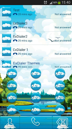 ExDialerブルー