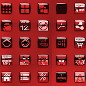 Liquid Red Icon Pack
