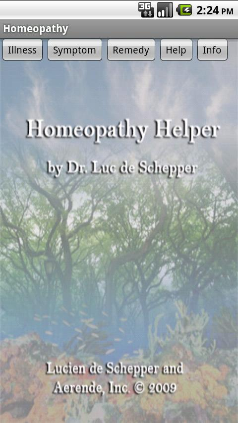 Homeopathy - screenshot