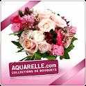 Aquarelle livraison de fleurs logo