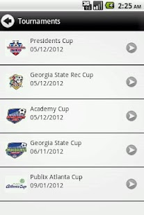 Georgia Soccer Tournaments - screenshot thumbnail