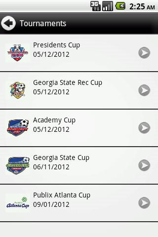 Georgia Soccer Tournaments - screenshot