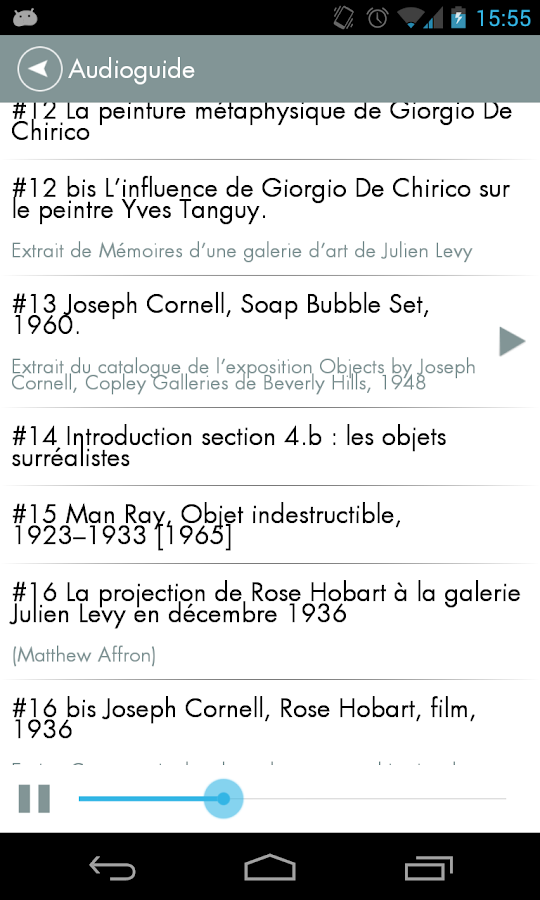 Exposition Joseph Cornell - screenshot