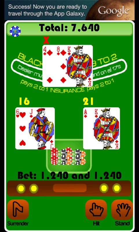 BlackJack Casino Card Game- screenshot