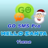 GO SMS Pro Hello Santa theme