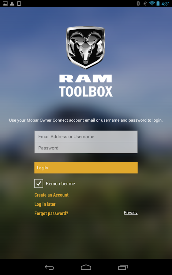 RAM Toolbox- screenshot