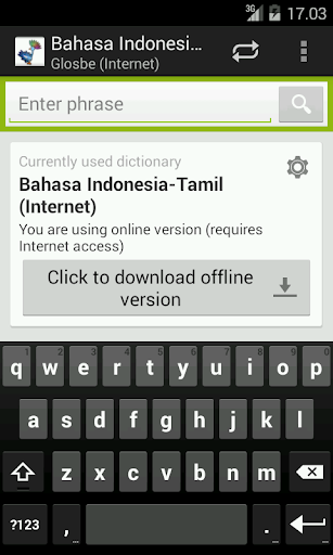 Indonesian-Tamil Dictionary