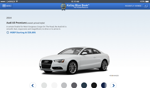 KBB.com Car Prices & Reviews- screenshot thumbnail