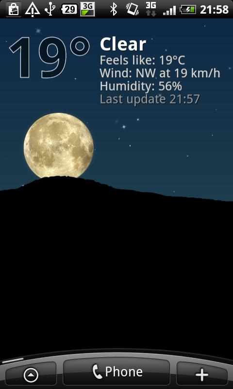 True Weather LWP- screenshot