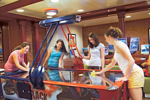 Teen-Center-Princess-Cruises - Princess Cruises' Teen Center offers passengers ages 13-17 lots of entertainment and activities suited for their age group.