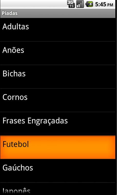 Piadas- screenshot