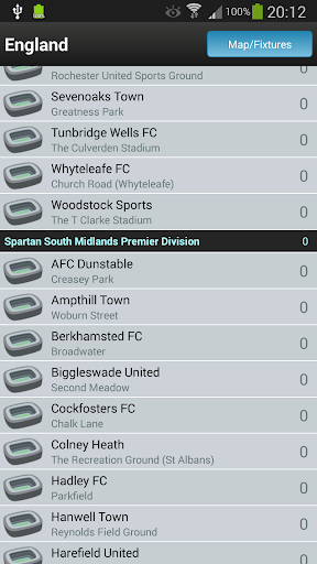 Groundhopper - Live Football Apps (apk) free download for Android/PC/Windows screenshot